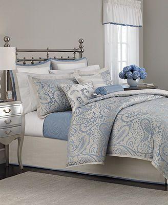 Martha Stewart Collection Gemstone Paisley 22 Piece King Comforter Set Bedr