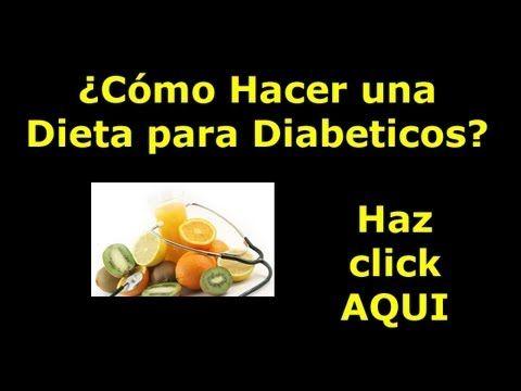 Dietas para Diabeticos | Hacer un Menú para Diabeticos