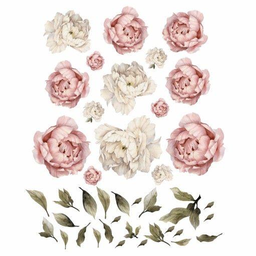 Piwonie Kwiaty Naklejki Na Sciane Komplet Xl Flowers Rooster