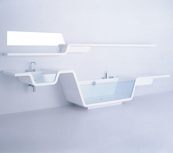 Linear Bathroom