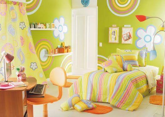 Dormitorio Verde Manzana Para Ni A Dormitorios Fotos De