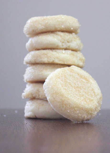 almond sugar cookies, very good, no changes needed for high altitude, sprayed pan with pan, will try parchment paper next time