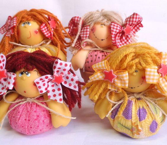 Meninas fofuchas - Lembrancinhas