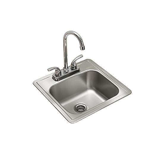 Kindred Essentials All In One Kit 15 Inch X 15 Inch X 6 Inch Deep Drop In Bar Or Utility Sink In Satin Stainless Stee Sink Utility Sink Stainless Steel Faucets