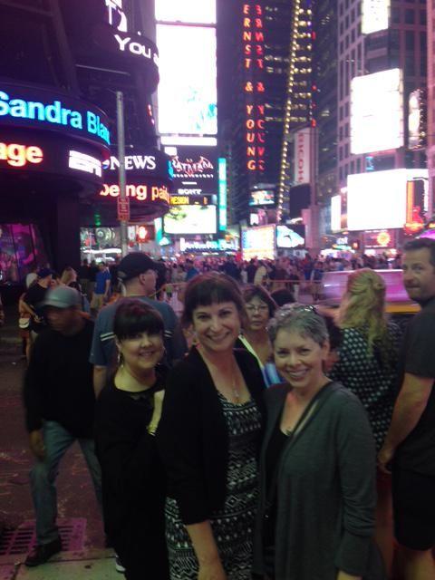 #SweetRomance authors @RaineEnglish, @GinnyBaird and @magdalenascott - Times Square #RWA15
