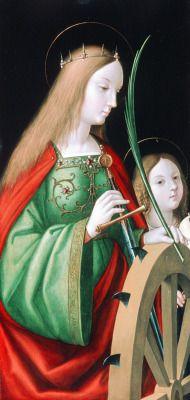 Sts. Catherine and Ursula, c. 1514, by Andrea Solari (also Solario) (1460–1524)