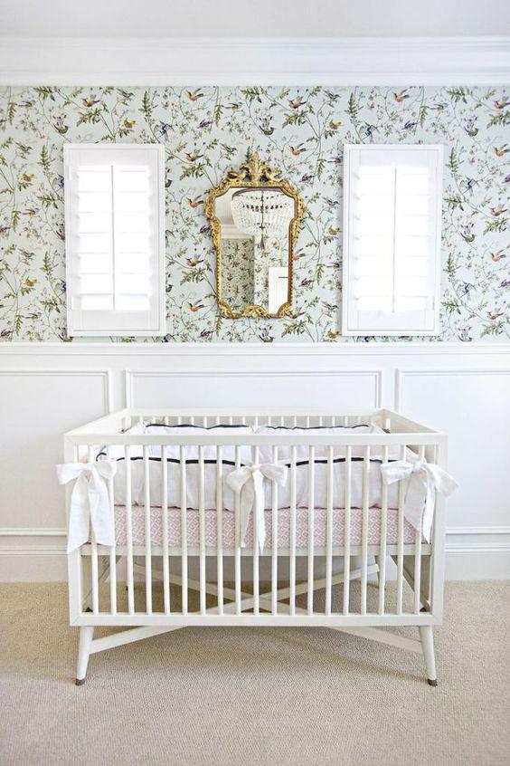 Sophisticated nursery.