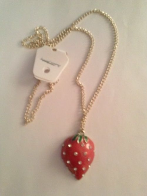 Strawberry Charm Necklace - $10