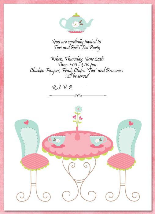 Tea Party Invitation Template Party Invite Template Tea Party Invitations Surprise Party Invitations