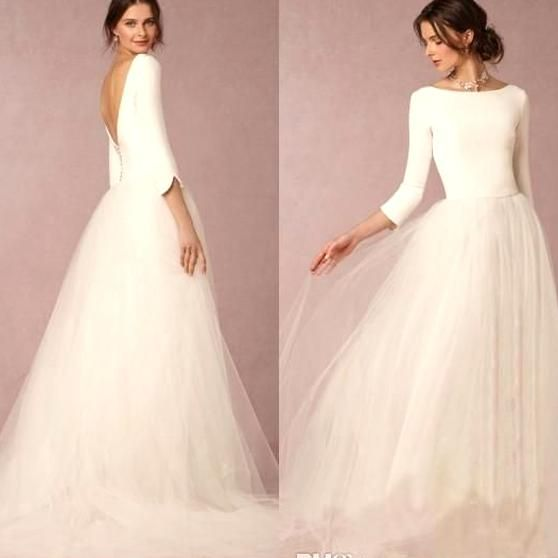 Cheap Stunning Winter Wedding Dresses A Line Satin Top Backless 2016 Bridal Gowns In 2020 Wedding Dress Designers Uk Bridal Dress Design Simple Wedding Dress Designers