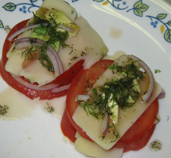Tomato Mozzarella Tower | Recipes | Pinterest | Tomato Mozzarella ...