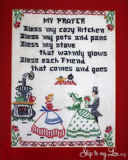 Kitchen Prayer--isn't it so sweet?