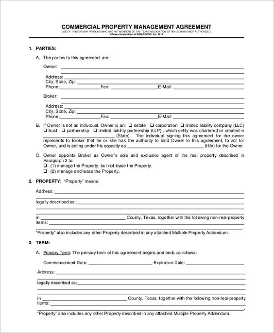 sample property management agreement documents pdf word template - investment management agreement