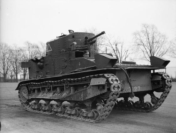 BRITISH ARMY UNITED KINGDOM 1939-45 (H 194) Vickers Medium Mk 1 tank of the Royal Tank Regiment at Colchester, November 1939.