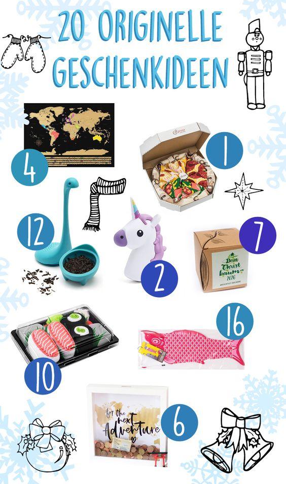 20 originelle Weihnachtsgeschenke / Ideen für Geschenke / kreative Geschenke / besondere Geschenke für Weihnachten