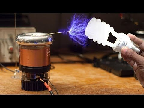 Make A Mini Tesla Coil Easy To Make Youtube Tesla Coil Tesla Coil
