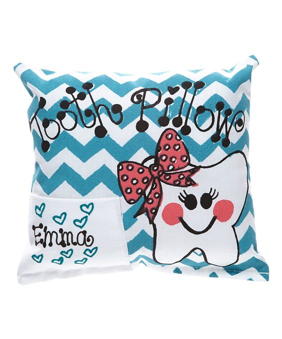 Another great find on #zulily! Teal Chevron Personalized Tooth Pillow by Bunnies and Bows #zulilyfinds