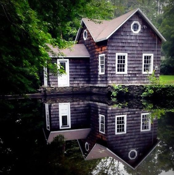 Beautiful cottage in the forrest.