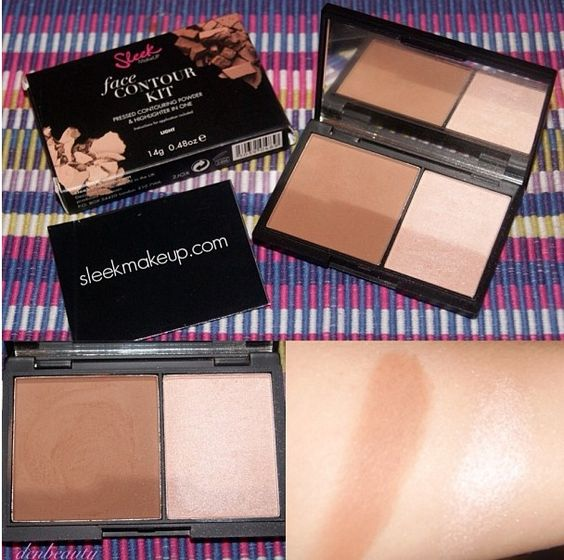 Sleek Makeup Face Contour Kit. The Face Contour Kit combines a dark matte pressed powder and an illuminating highlighter, in a handbag-friendly mirrored palette. Contour Kit works to sculpt your features and has amazing slimming effects.