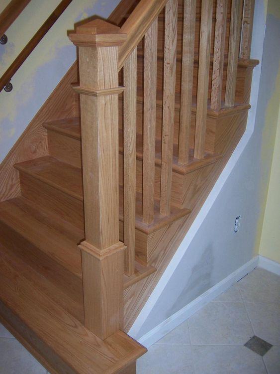 Best Oak 4075 Newel 5060 Baluster And 6210 Rail Stairs Rails 400 x 300