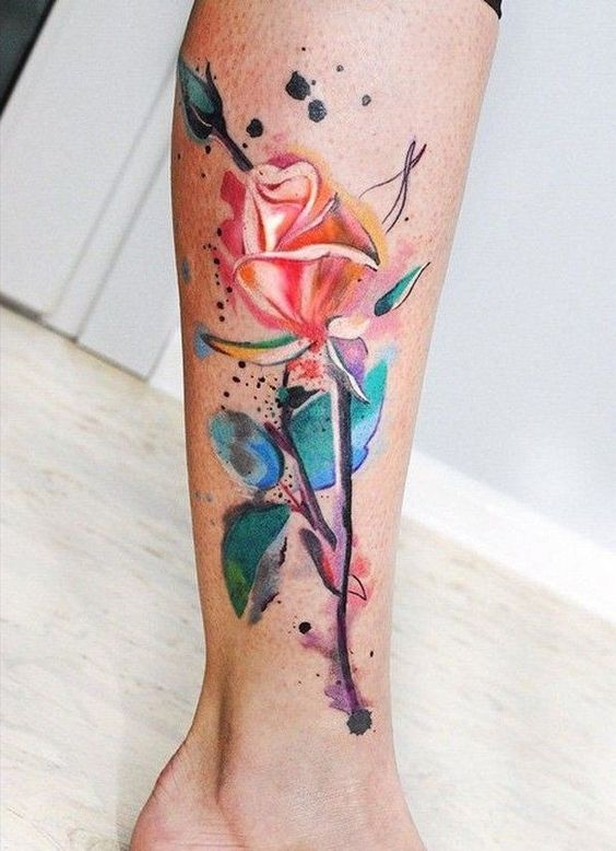 55+ Watercolor Tattoo Ideas For Female, #Female #Ideas #Tattoo #watercolor