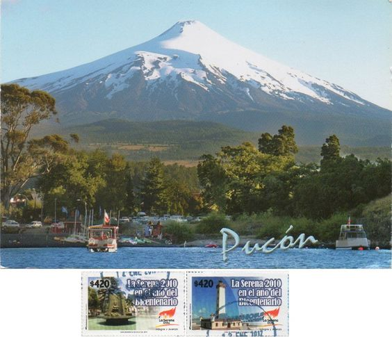 Swap - Arrived: 2017.02.03   ---   Pucón is a Chilean city. It is located in the Province of Cautín, Araucanía Region, 100 km to the southeast of Temuco and 780 km to the south of Santiago. It is on the eastern shore of Lake Villarrica, and Villarrica volcano is located roughly 17 km to the south. Pucón's location by a lake and volcano, along with its relatively stable climate, especially in summer. Pucón was established in 1883 as a fort in the aftermath of the Occupation of Araucanía.