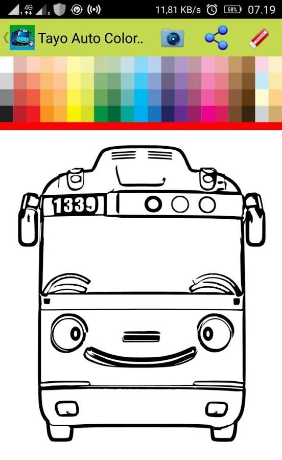 Tayo Auto Coloring Book Android Apps On Google Play Coloring Books Coloring Pages Color