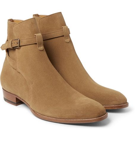 Saint Laurent Cigar Suede Jodhpur Boots | Men shoes | Pinterest ...