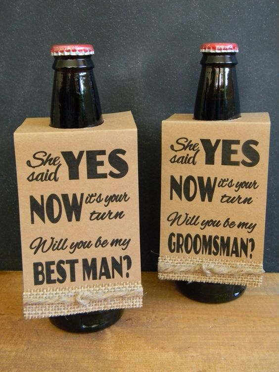 "DIY - Free ""Will You Be My Groomsman"", ""Best Man"" - Beer Bottle Hang Tags"