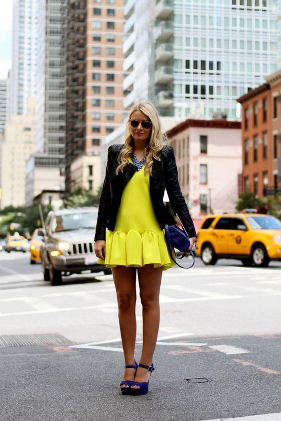 #fashion #fashionista Veronica nero giallo New York Fashion Week: day 2 - The Fashion Fruit