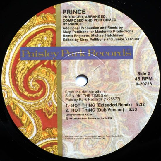 Prince I Could Never Take The Place Of Your Man Vinyl 12 45 Rpm Maxi Single Discogs Prince Your Man Man
