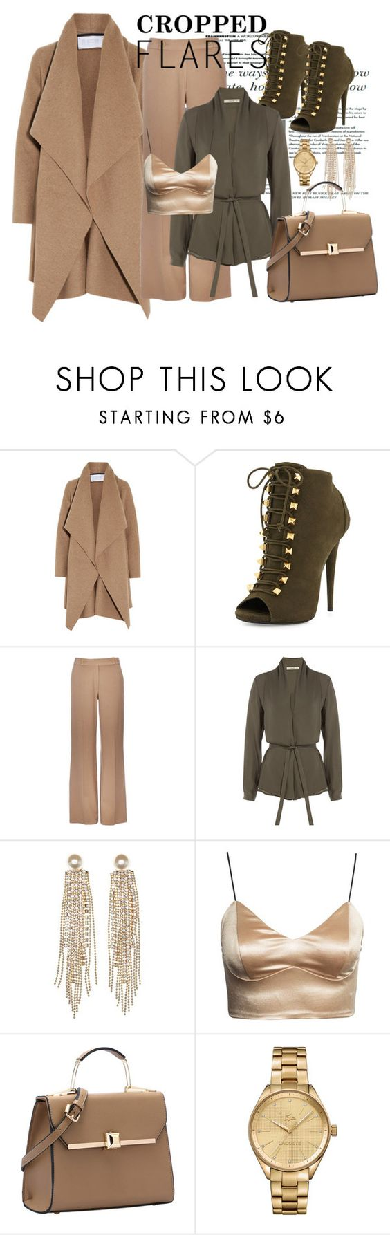 """Would You Wear It: Cropped Flares"" by fashion-tagblog ❤ liked on Polyvore featuring Harris Wharf London, Giuseppe Zanotti, Wallis, Etro, Charlotte Russe, Lacoste, women's clothing, women's fashion, women and female"
