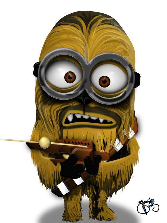 Chewbacca como Minion.