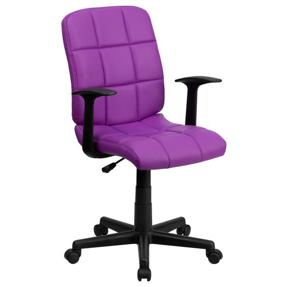 Menil Quilted Design Leatherette Swivel Adjustable Office Chair