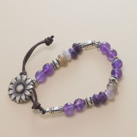Amethyst Mantra Bracelet