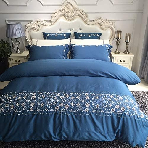 Luxury Champagne Egyptian Cotton Gold Royal Embroidery European Palace Bedding Set Duvet Cove Duvet Bedding Sets Linen Pillow Cases Egyptian Cotton Duvet Cover