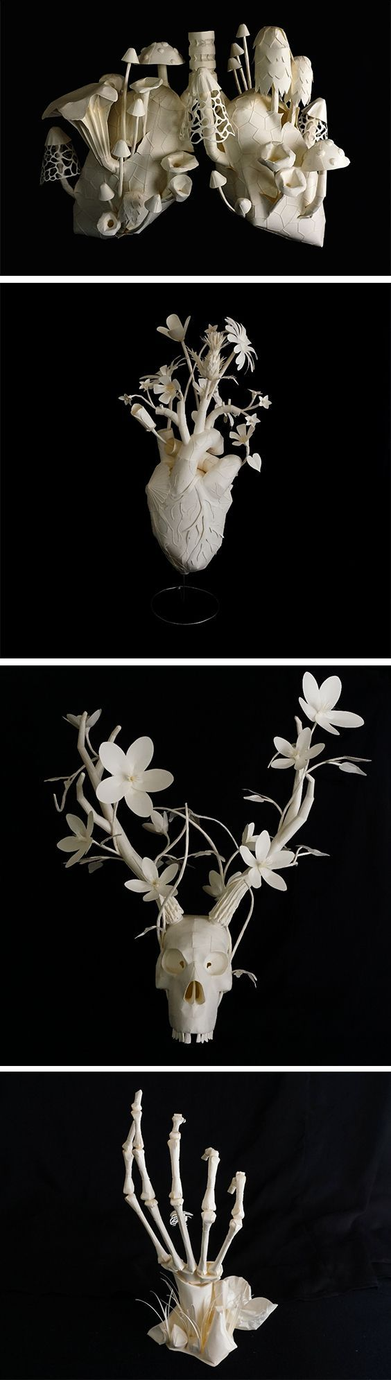 Eerily Beautiful and Macabre Paper Sculptures by Sinan Soykut: