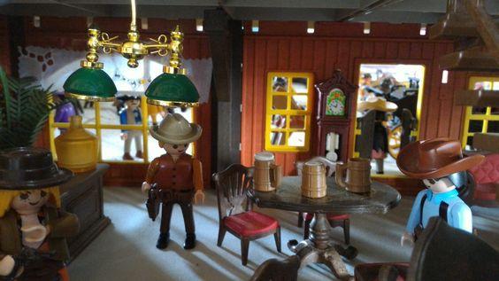 la ville western en playmobil - dominique bethune createur de dioramas playmobil