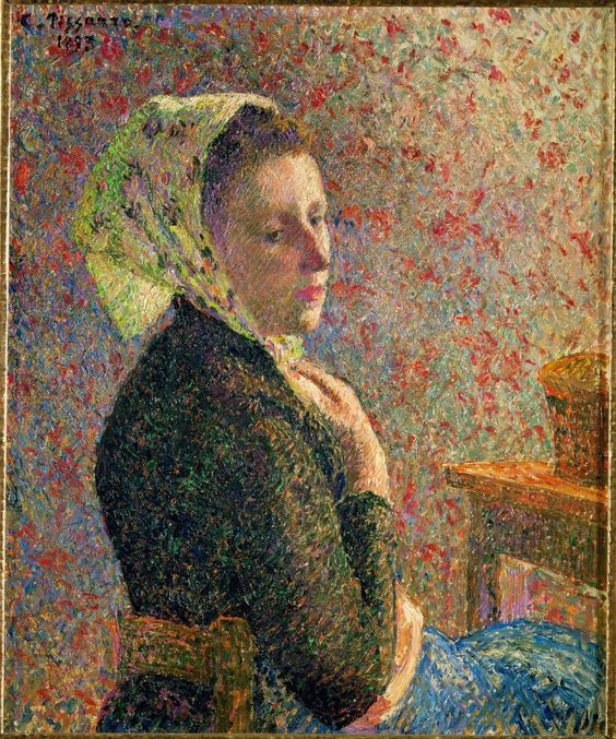 Camille Pissarro (French, 1830-1903),Femme au Fichu Vert[Woman with Green Scarf], 1893. Oil on canvas,65.5 x 54.5 cm.