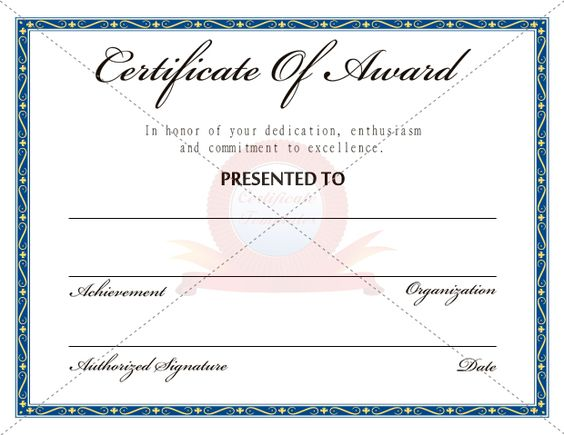 Award Certificates Archives - Free \ Premium 123 Certificate - free award certificates