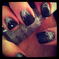A Girl can't be without her Glitter - Glitter Mani