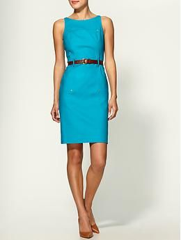 Bright turquoise shift by Michael Kors. $150 on Piperlime