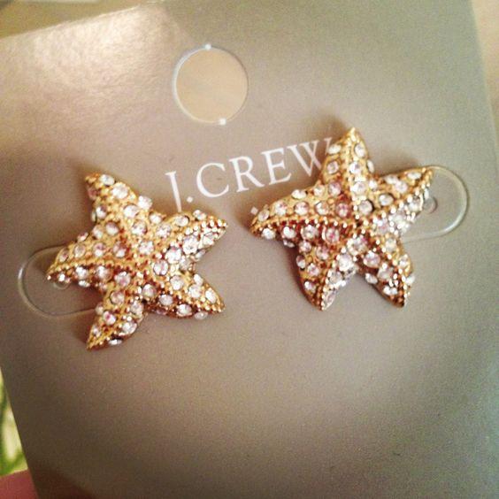 J Crew Starfish Earrings