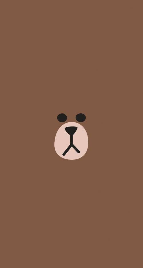 Download Line Brown 744 X 1392 Parallax Wallpapers 3974778 Cute Mobile9 Friends Wallpaper Line Friends Bear Wallpaper Download wallpaper brown line hd
