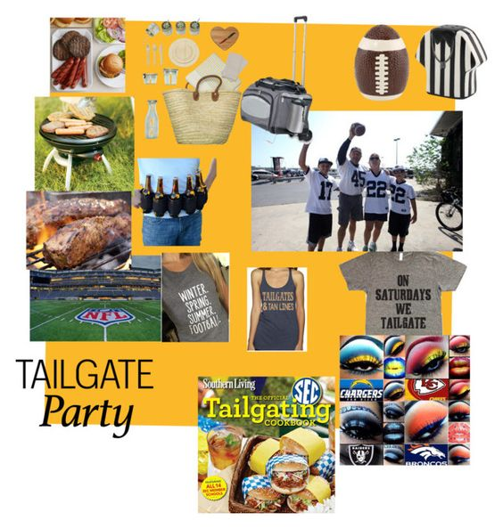 """Tailgate party"" by suzinjersey ❤ liked on Polyvore featuring ACME Party Box Company, Picnic Time and Coleman"