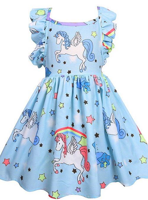Kids Girls' Active Unicorn Geometric Solid Colored Sleeveless Dress Purple  2021 - US $17.59   Girls dresses online, Unicorn dress, Baby girl dresses