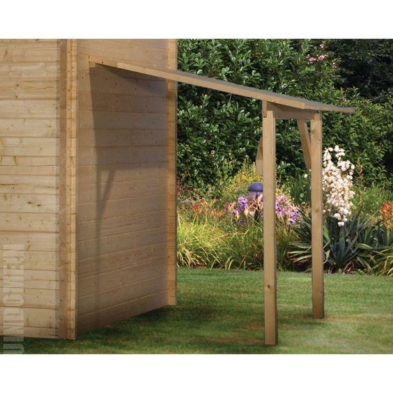 Zelf een afdak maken voor fietsen en meubels tuin idee n pinterest tuin - Hoe een overdekt terras te bouwen ...