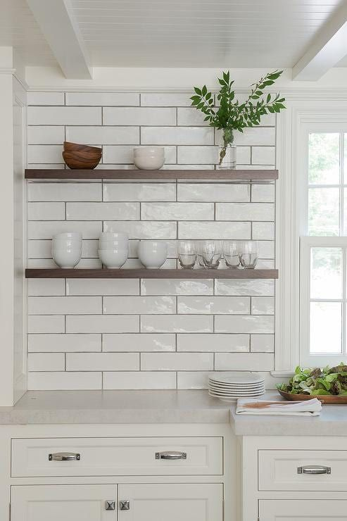 Backsplash Is White Subway Tile In Matte Finish Countertops