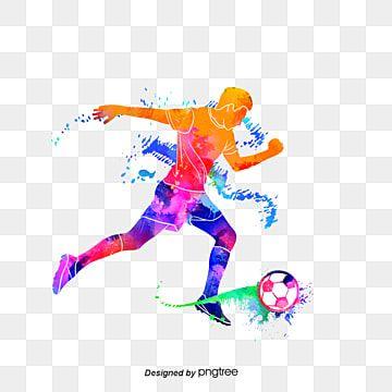 لاعبي كرة القدم المبدعينالصور الظلية المبهرة كرة القدم متعدد الألوان حرف Png وملف Psd للتحميل مجانا Cartoon Clip Art Fire Icons Football Logo