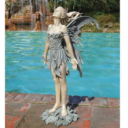 Wind Fairy Statue Statues, Fairy Garden Statues Canada